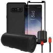 Paquete estéreo, de carga y protección Incipio DualPro para Galaxy Note8