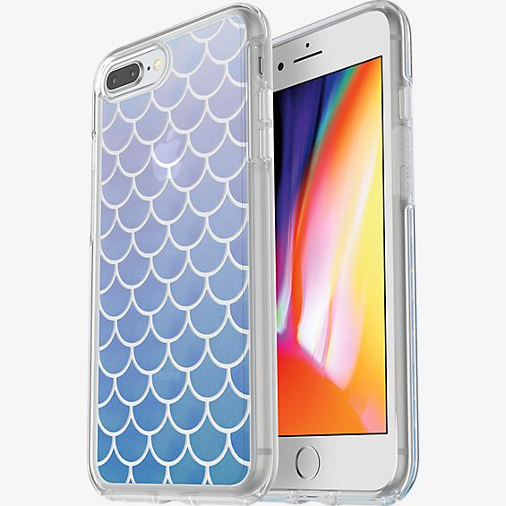 Protector Symmetry Clear Series para iPhone 8 Plus/7 Plus - Color Mermaid Tail