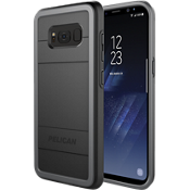 Estuche protector para Galaxy S8 - Negro/Color Light Grey