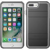Carcasa protectora para iPhone 8/7/6s/6 -Negro/Gris claro