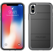 Protector para iPhone X - Negro/Color Light Grey