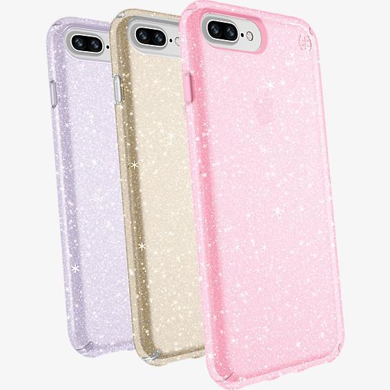 Juego de regalo de carcasa Presidio transparente + brillo para el iPhone 8 Plus/7 Plus/6s Plus/6 Plus