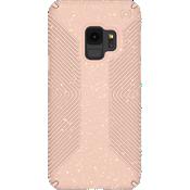 Estuche Presidio Grip + Glitter para el Galaxy S9 - Color Bella Pink con Gold Glitter/Dahlia Peach