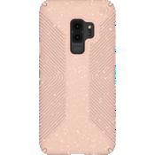 Estuche Presidio Grip + Glitter para el Galaxy S9+ - Color Bella Pink con Gold Glitter/Dahlia Peach