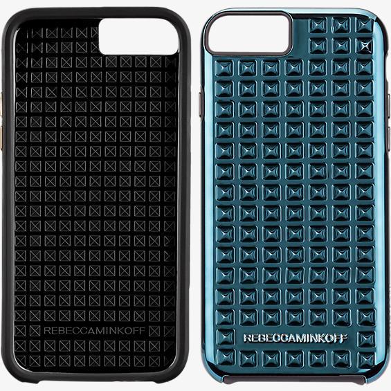 Estuche con tachas para iPhone 6/6s - Metálico real