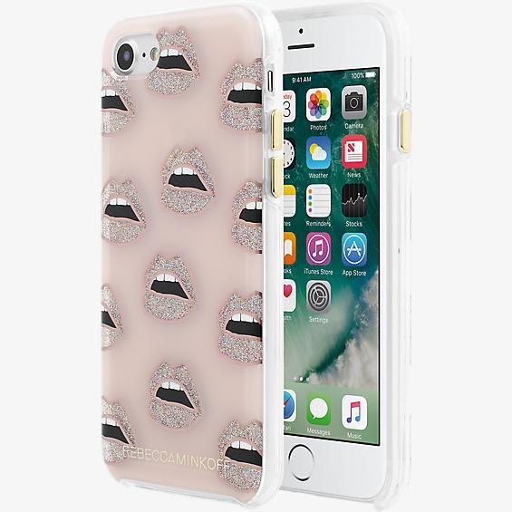 Estuche Double Up para iPhone 7 - Color Rose Gold, transparente