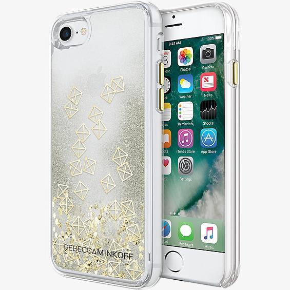 Estuche Glitterfall para iPhone 7 - Tapas doradas