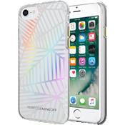 Estuche traslúcido de protección para iPhone 7 - Transparencia con diseños geométricos/Hojas  holográficas