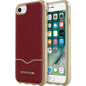 Estuche deslizable para iPhone 7 - Piel color Deep Red