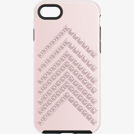 Estuche Rebecca Minkoff moldeado con tachas para iPhone 7 - Color Rose Gold/Negro