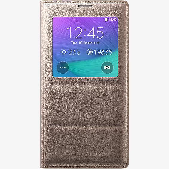 Cubierta plegable S-View para Samsung Galaxy Note 4