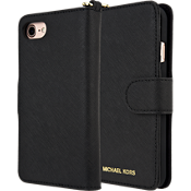 Carcasa Saffiano Leather Folio para iPhone 8/7 - Negro