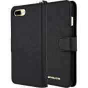 Carcasa Saffiano Leather Folio para iPhone 8 Plus/7 Plus - Negro