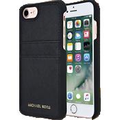 Estuche con bolsillo de piel Saffiano para iPhone 7