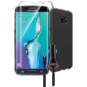 Paquete de cubierta de silicona para el Samsung Galaxy S6 edge+