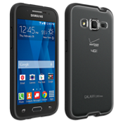 Protector transparente con borde negro para Samsung Galaxy Core Prime