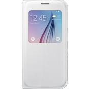 Cubierta plegable S-View para el Samsung Galaxy S 6 - Color White Pearl