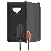 Paquete de protector Otterbox Commuter, protector de pantalla y cargador para auto para el Galaxy Note9