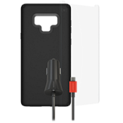 Paquete de carcasa Presido Pro, protector de pantalla y cargador para el Galaxy Note9