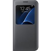 Cubierta S View para Samsung Galaxy S7 edge - Negro