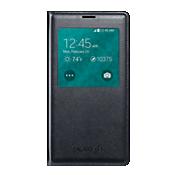 Cubierta plegable Samsung S-View para el Galaxy S 5 - Negro carbón