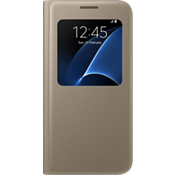 Cubierta S View para Samsung Galaxy S7 - Color Flat Gold