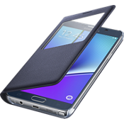 Cubierta S-View para Samsung Galaxy Note 5 - Color Black Sapphire