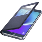 Verizon - Cubierta S-View para el Samsung Galaxy Note 5 - Color Black Sapphire