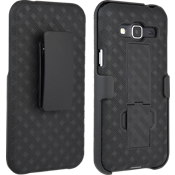 Paquete combinado de cubierta/protector para Galaxy J3 V - Negro
