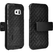 Combo de protector y funda con pie de apoyo para Samsung Galaxy S6 Edge