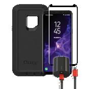 Paquete de cargador y protector OtterBox Defender para Galaxy S9