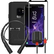 Paquete de cargador, protector y auricular OtterBox Symmetry para Galaxy S9