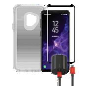Paquete de cargador y protector OtterBox Symmetry Clear para Galaxy S9