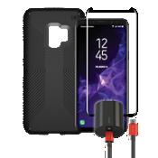 Paquete de cargador y protector Speck Presidio Grip para Galaxy S9