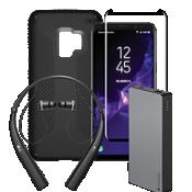 Paquete de cargador, protector y auricular Speck Presidio Grip para Galaxy S9