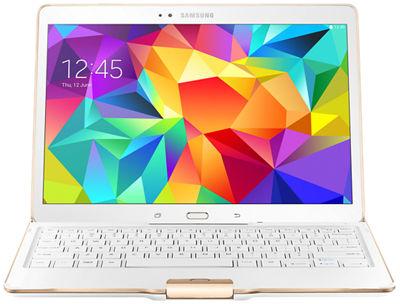 Estuche con teclado para Samsung Tab S 10.5 con Bluetooth - Blanco brillante