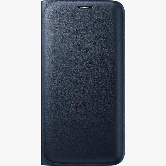 Cubierta plegable tipo carpeta para Samsung Galaxy S6 Edge - Negro
