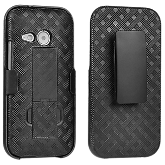 Paquete combinado de funda/soporte para HTC One remix - Negro