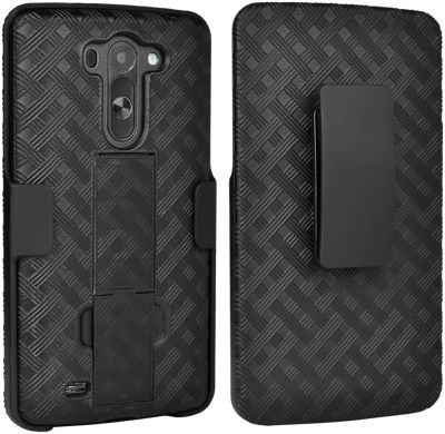Paquete combinado de cubierta/protector Verizon para LG G Vista