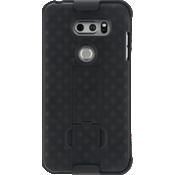 Paquete combinado de protector/estuche para LG V30 - Negro