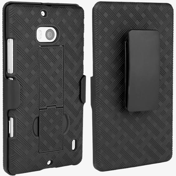 Paquete combinado de protector y soporte para el Nokia Lumia Icon