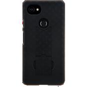 Paquete combinado de protector/estuche para Pixel 2 XL - Negro