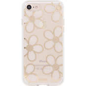Estuche ClearCoat para iPhone 7 - Color Crochet Daisy/Blanco