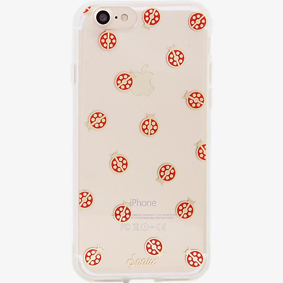 Estuche ClearCoat para iPhone 7 - Color Lady Bug/Rojo