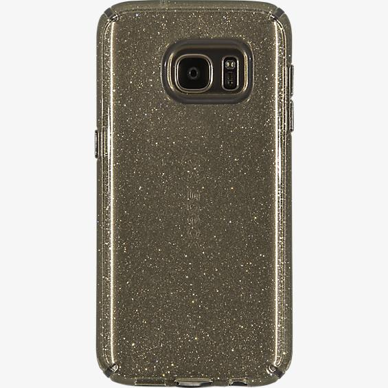 Estuche CandyShell para Galaxy S7 - Color Clear Gold Glitter