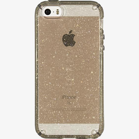 Estuche CandyShell para iPhone 5/5s/SE - Color Clear Gold Glitter