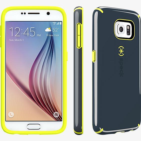 CandyShell para Samsung Galaxy S 6 - Gris pizarra/Amarillo anticongelante