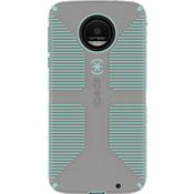 Estuche CandyShell Grip para Moto Z Droid - Color Sand Grey/Aloe Green