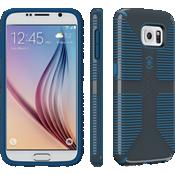 Speck CandyShell Grip para el Samsung Galaxy S 6 - Gris pizarra/Azul acero