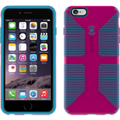 Speck CandyShell Grip para iPhone 6 Plus/6s Plus - Labial rosa/Rayas azules